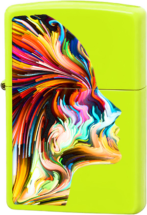 29083 Зажигалка Zippo Colorful Head, Neon Yellow
