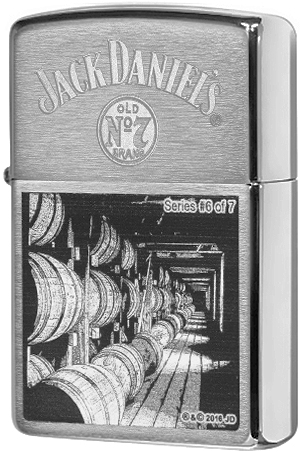 29178 Зажигалка Zippo Jack Daniels Scene Series 6 of 7, Brush Chrome