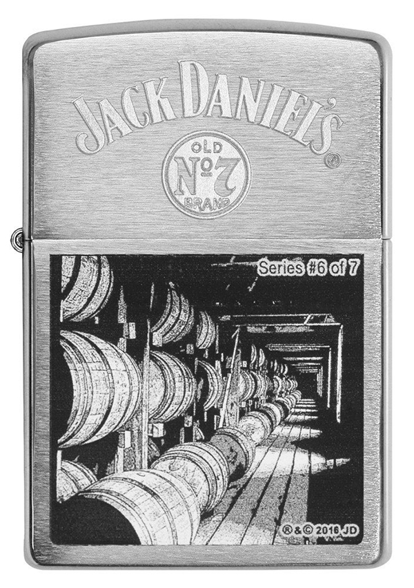 29178 Зажигалка Zippo Jack Daniels Scene Series 6 of 7 Brush Chrome