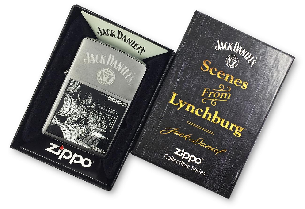 29178 Зажигалка Zippo Jack Daniels Scene Series 6 of 7, Brush Chrome в эксклюзивной фирменной подарочной коробке
