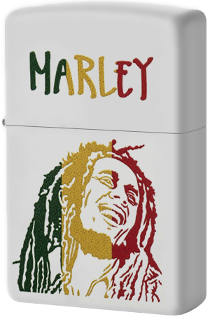 29308 Зажигалка Zippo Bob Marley, White Matte
