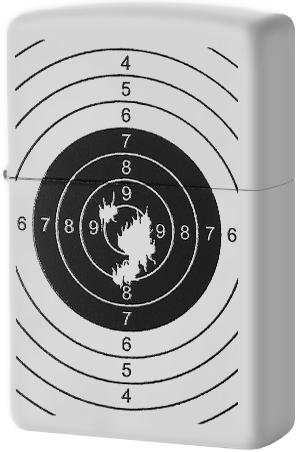 29390 Зажигалка Zippo Target With Holes, White Matte
