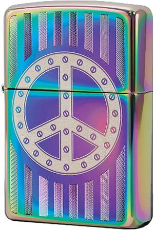 29435 Зажигалка Zippo Rivit Peace Sign, Spectrum