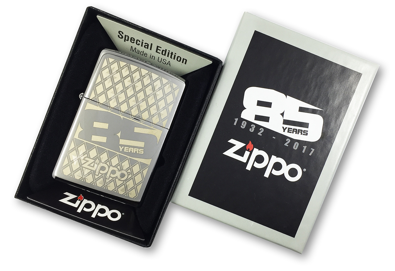 29438 Зажигалка Zippo 85TH Anniversary Every, Polish Chrome в специальной фирменной подарочной коробке
