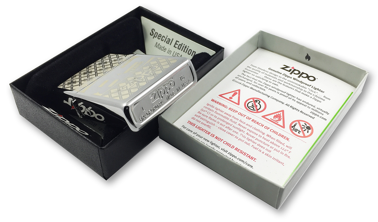 29438 Зажигалка Zippo 85TH Anniversary Every, Polish Chrome заводской штамп на донышке