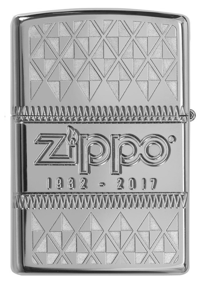 29442 Зажигалка Zippo 85th Anniversary Collectible, Armor Polish Chrome обратная сторона