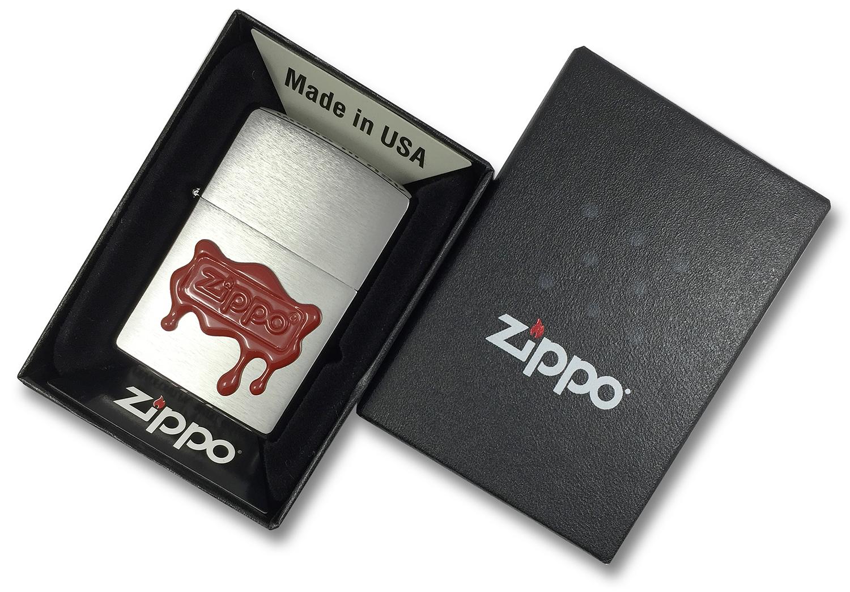 29492 Зажигалка Zippo Red Wax Seal Logo Emblem в открытой коробке