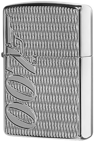 29550 Зажигалка Zippo James Bond 007 Armor Carved, Polish Chrome