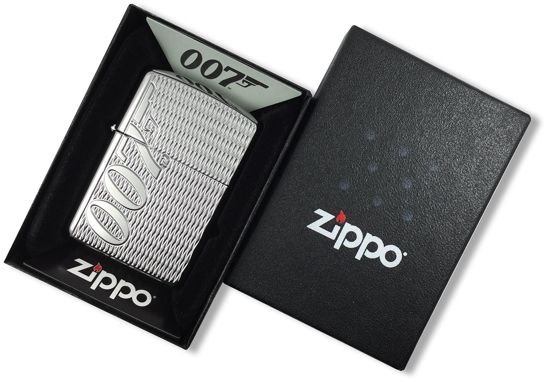 29550 Зажигалка Zippo James Bond 007 Armor Carved в открытой коробке
