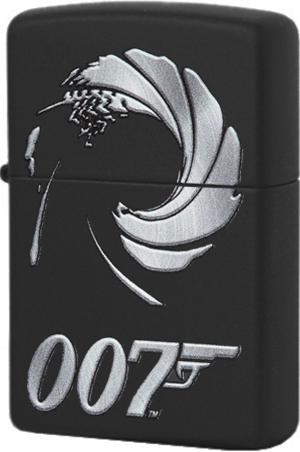 29566 Зажигалка Zippo James Bond 007, Black Matte
