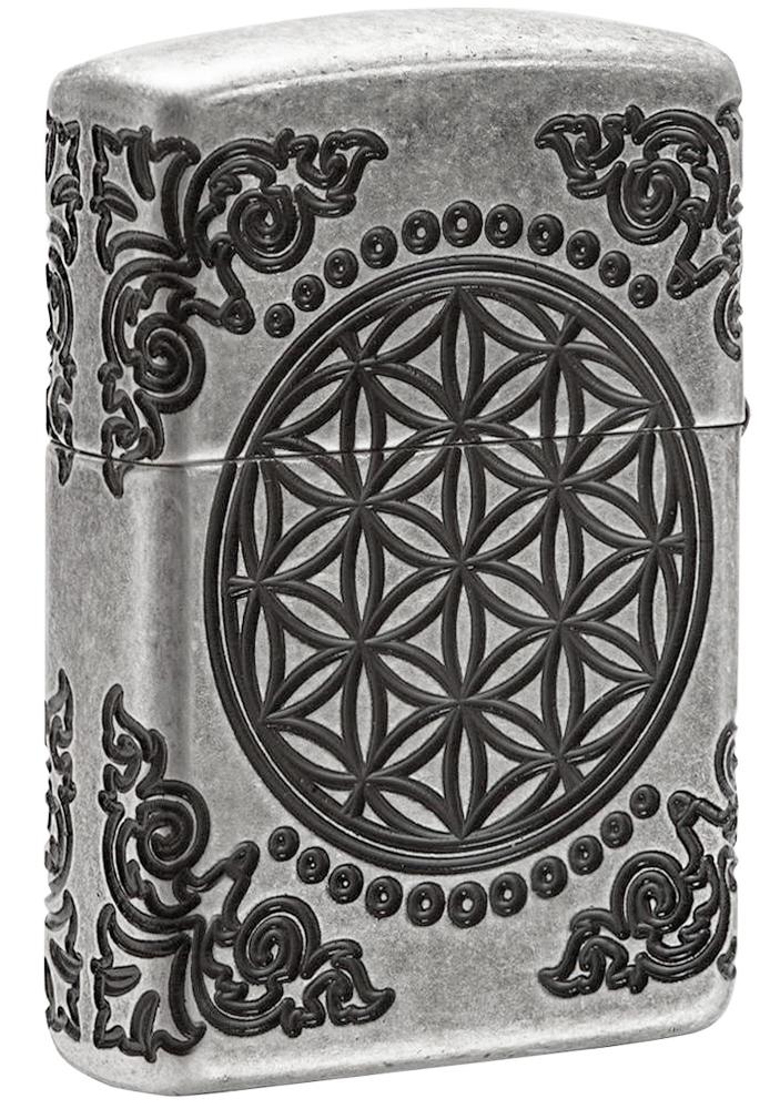 29670 Зажигалка Zippo Armor Tree of Life, Antique Silver - обратная сторона
