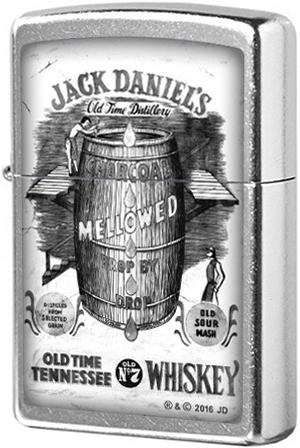 207 Зажигалка Zippo Jack Daniels Tennessee Whiskey, Street Chrome
