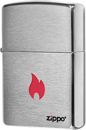 200 Flame Зажигалка Zippo, Brushed Chrome