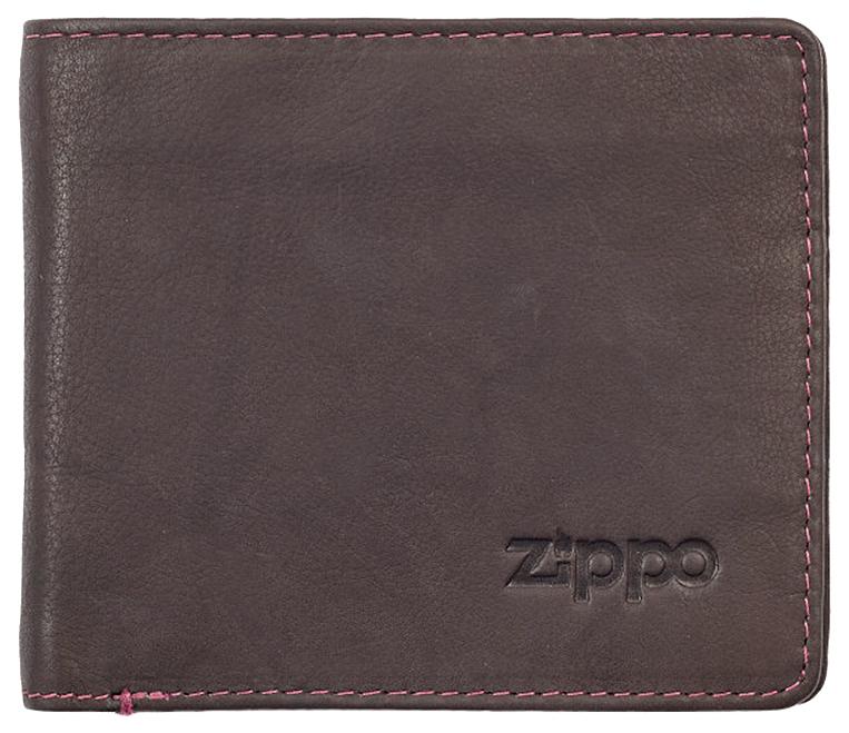 2005119 Портмоне Zippo Brown Genuine Leather Bi-fold