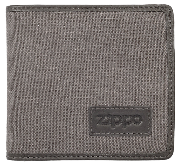 2005120 Портмоне Zippo Canvas and Mocha Leather Bi-fold, с монетницей