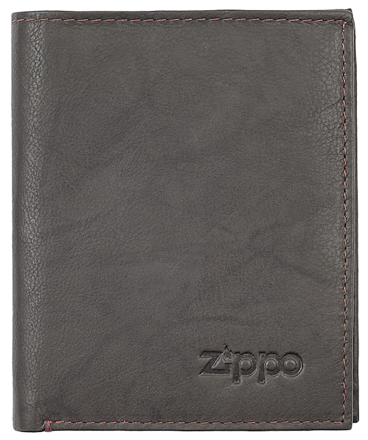 2005121 Портмоне Zippo Vertical Wallet Bi-fold Leather Mocha