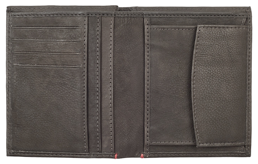 2005121 Портмоне Zippo Vertical Wallet Bi-fold Leather Mocha - раскрывается книжкой