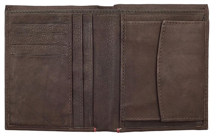 2005122 Портмоне Zippo Vertical Wallet Bi-fold Leather - раскрывается книжкой