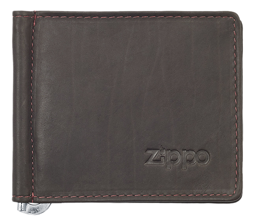 2005125 Зажим для денег Zippo Money Clip Wallet, Mocha Leather Bi-Fold