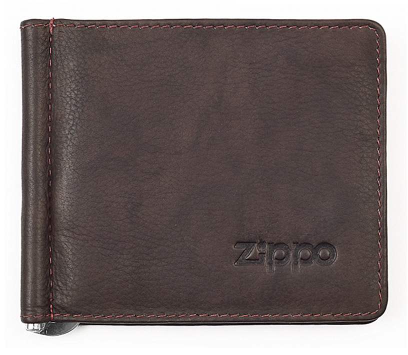 2005126 Зажим для денег Zippo Money Clip Wallet, Leather Bi-Fold