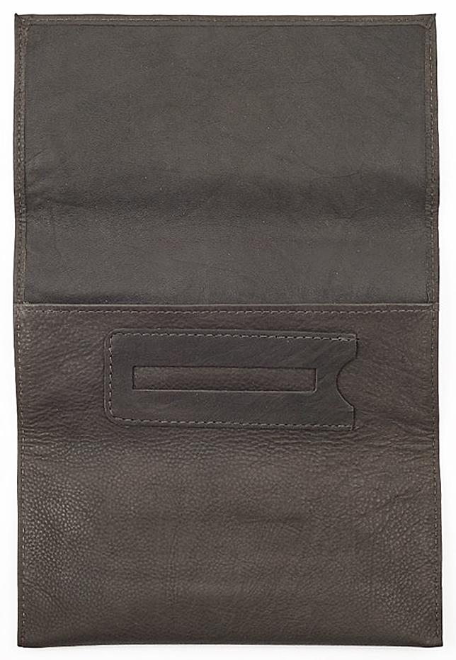 2005130 Кисет для табака Zippo Tobacco Pouch, Mocha Leather Tri-fold - развернутый