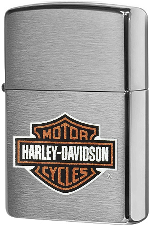 200HD.H252 Зажигалка Zippo Harley-Davidson logo, Brushed Chrome200HD.H252 Зажигалка Zippo Harley-Davidson logo, Brushed Chrome