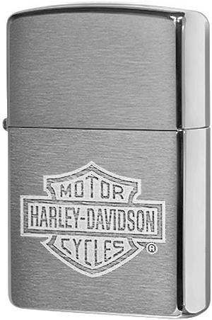 200HD.H199 Зажигалка Zippo Harley Davidson Logo, Brushed Chrome