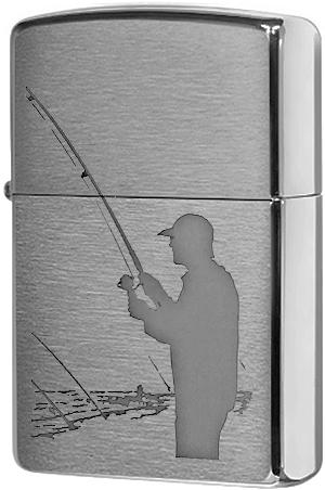 200 Fisherman Зажигалка Zippo, Brushed Chrome