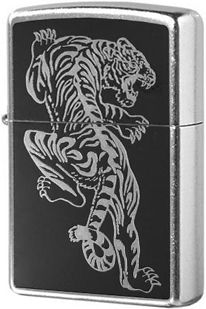 207 Tigre Зажигалка Zippo, Street Chrome