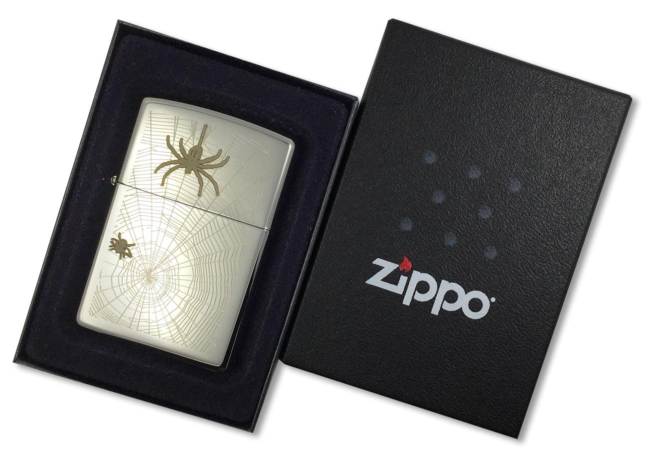 20968 Зажигалка Zippo Weave Me Alone, Black Ice - в подарочной коробке