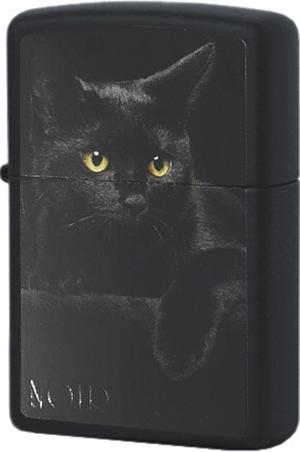 218 Black Cat Зажигалка Zippo, Black Matte