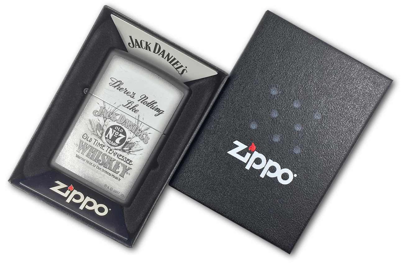 218 Зажигалка Zippo JD Theres Nothing Like, Black Matte - в подарочной коробке
