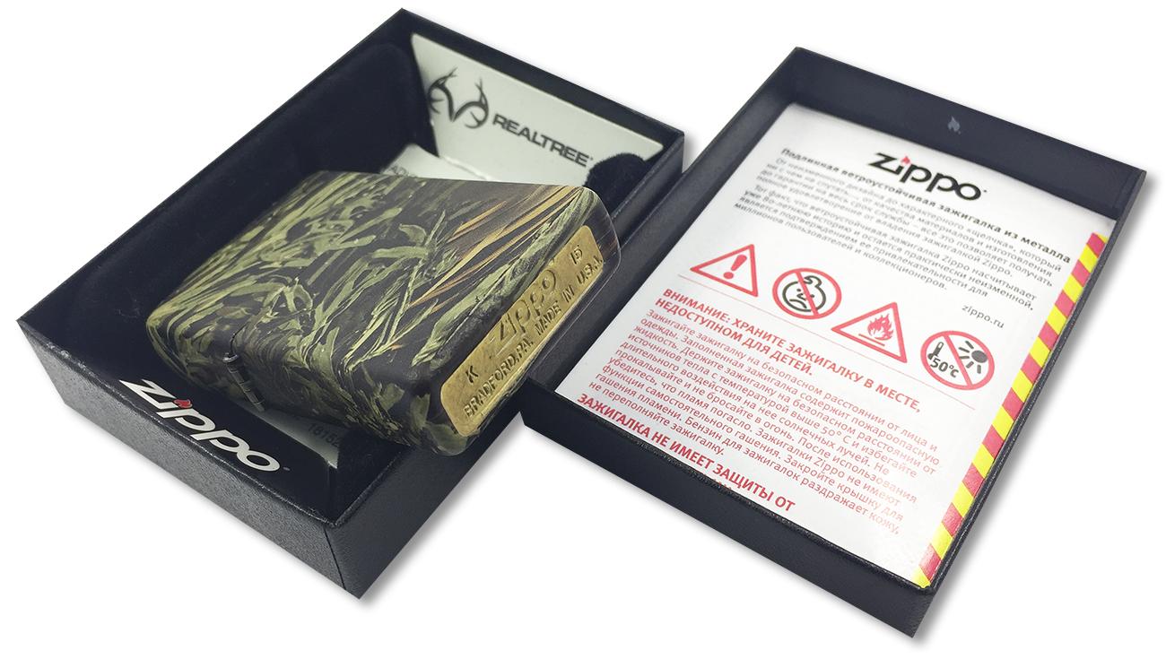 24072 Зажигалка Zippo Advantage MAX-1, Realtree - заводской штамп на дне зажигалки