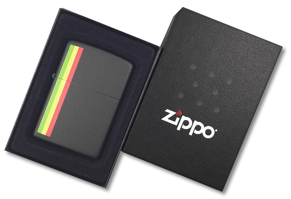 24337 Зажигалка Zippo Native Heritage, Black Matte - в подарочной коробке