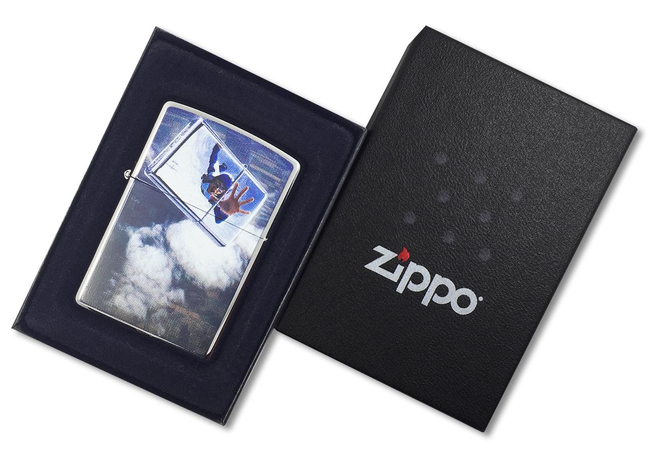 24348 Зажигалка Zippo Skydiver, Polish Chrome - в подарочной коробке