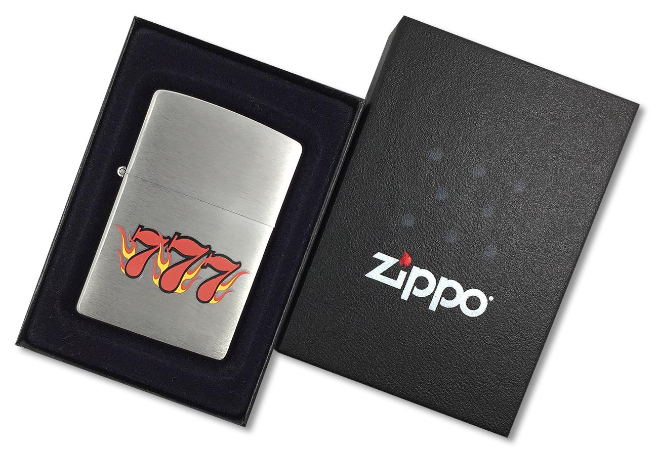 24491 Зажигалка Zippo SV-7, Brushed Chrome - в подарочной упаковке