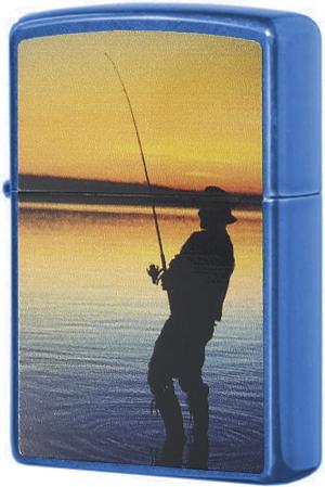 24534 Fisherman Зажигалка Zippo, Вечерняя рыбалка, Cerulean24534 Fisherman Зажигалка Zippo, Вечерняя рыбалка, Cerulean