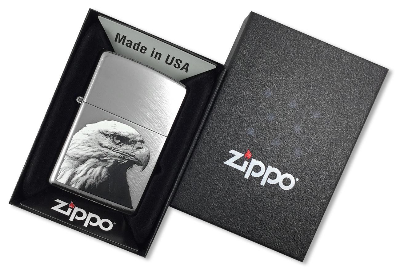 24647 Eagle Head Зажигалка Zippo, Chrome Arch - в подарочной упаковке24647 Eagle Head Зажигалка Zippo, Chrome Arch