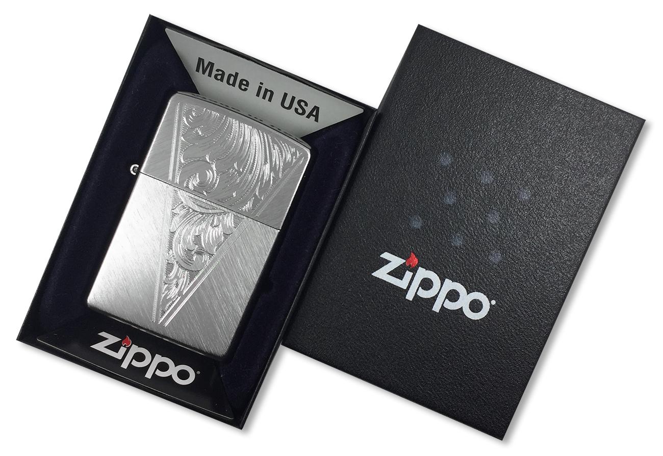 24904 Зажигалка Zippo BS Wedge, Herringbone Sweep - в подарочной коробке