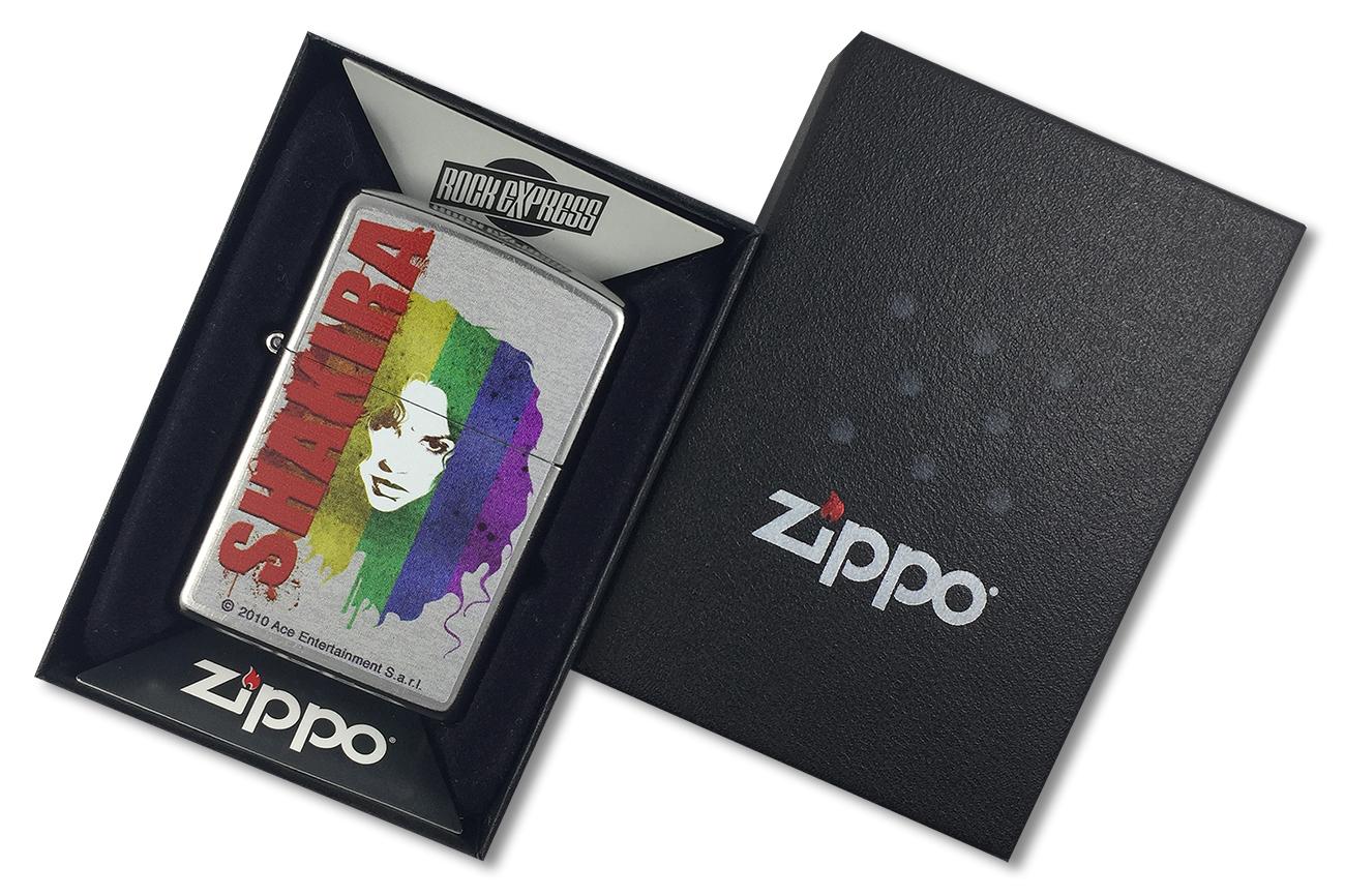 28028 Зажигалка Zippo Shakira Rainbow, Street Chrome - в подарочной коробке