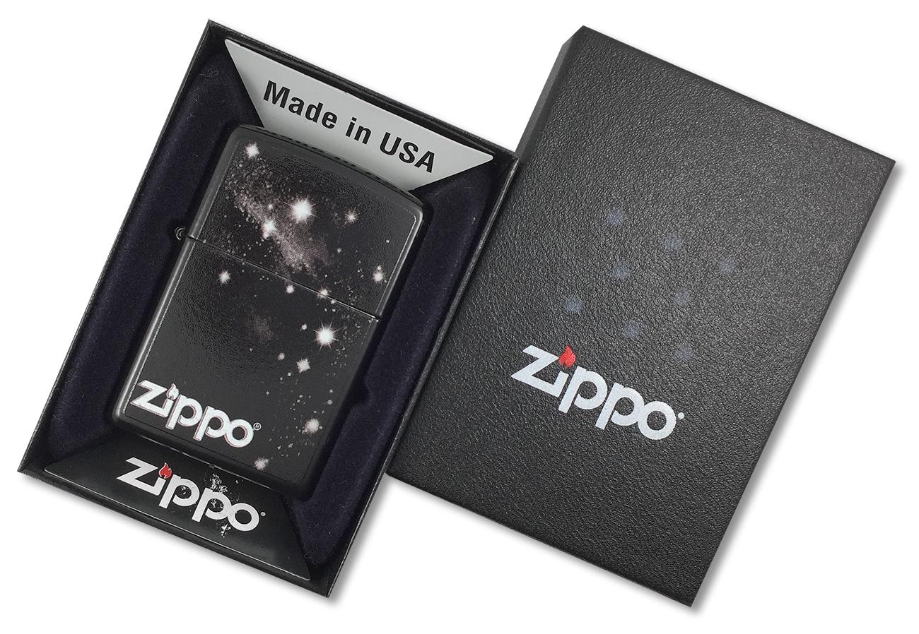 28058 Зажигалка Zippo Galaxy, Licorice - в подарочной упаковке