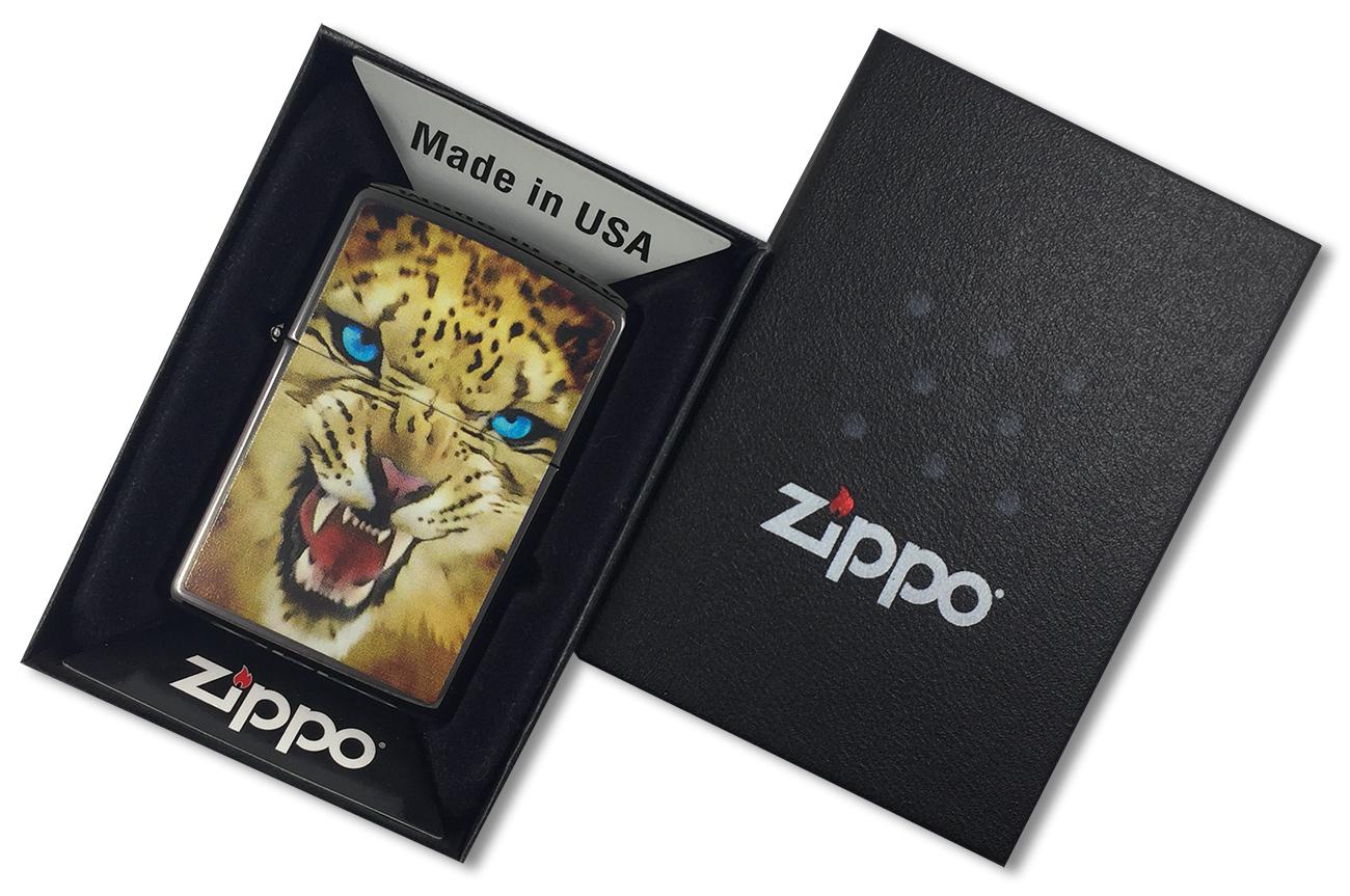 28276 Зажигалка Zippo Leopard Ebony - в подарочной упаковке