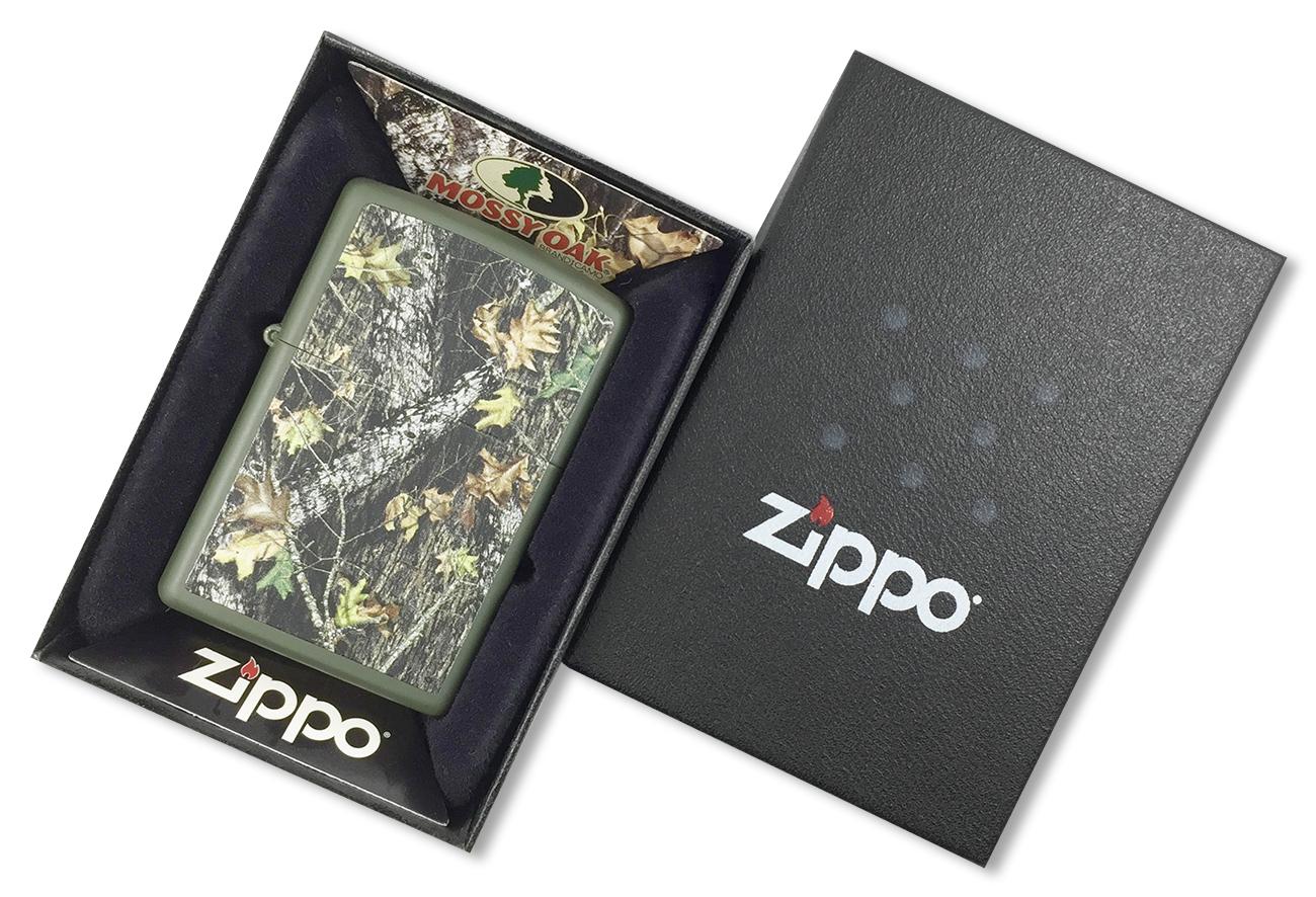 28332 Зажигалка Zippo Mossy Oak Break Up, Matte Green - в подарочной упаковке