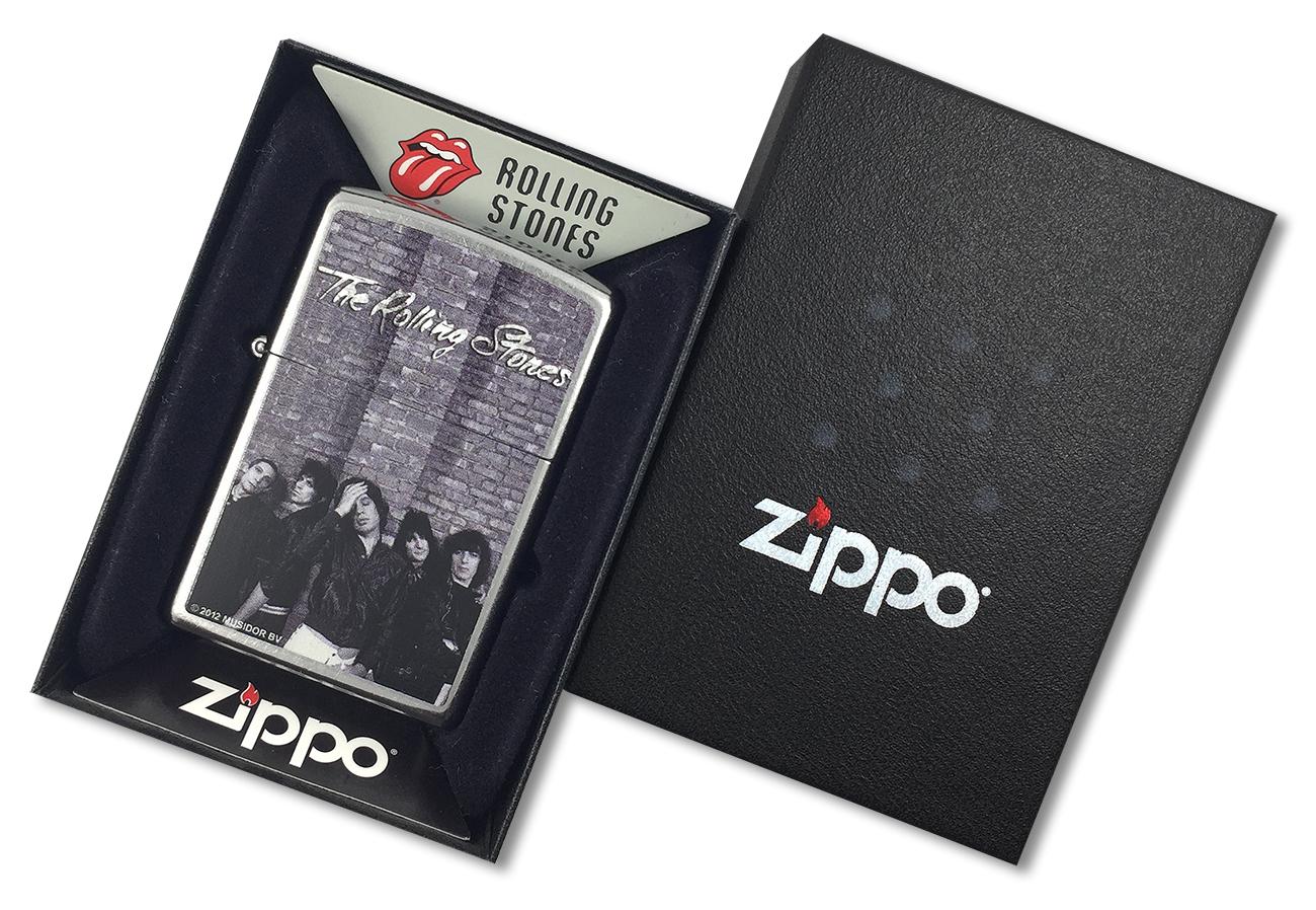 28428 Зажигалка Zippo Rolling Stones, Street Chrome - в подарочной коробке