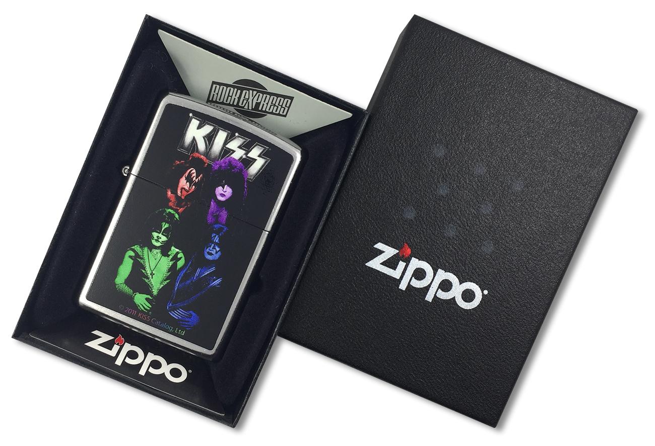28473 Зажигалка Zippo Kiss, Street Chrome - в подарочной коробке