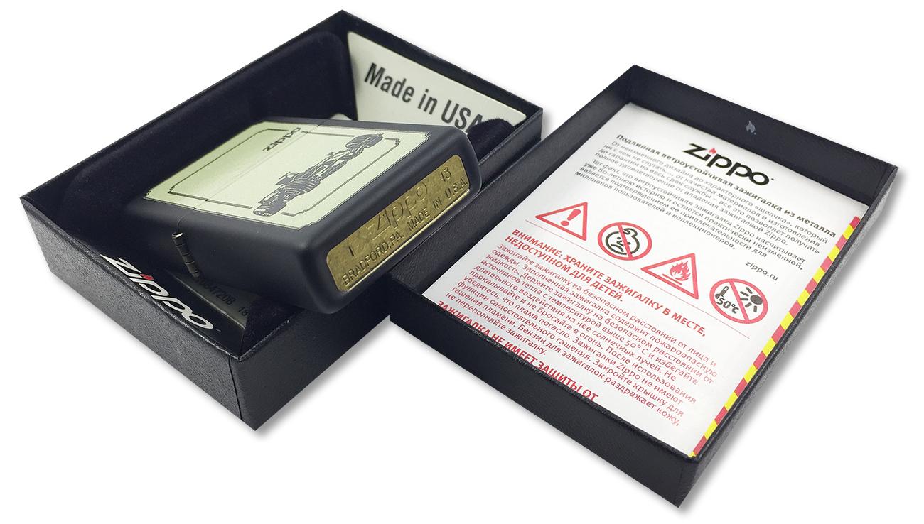 28711 Зажигалка Zippo Race Сar, Black Matte - заводской штамп на дне зажигалки