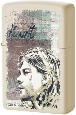 29051 Зажигалка Zippo Kurt Cobain, Cream Matte