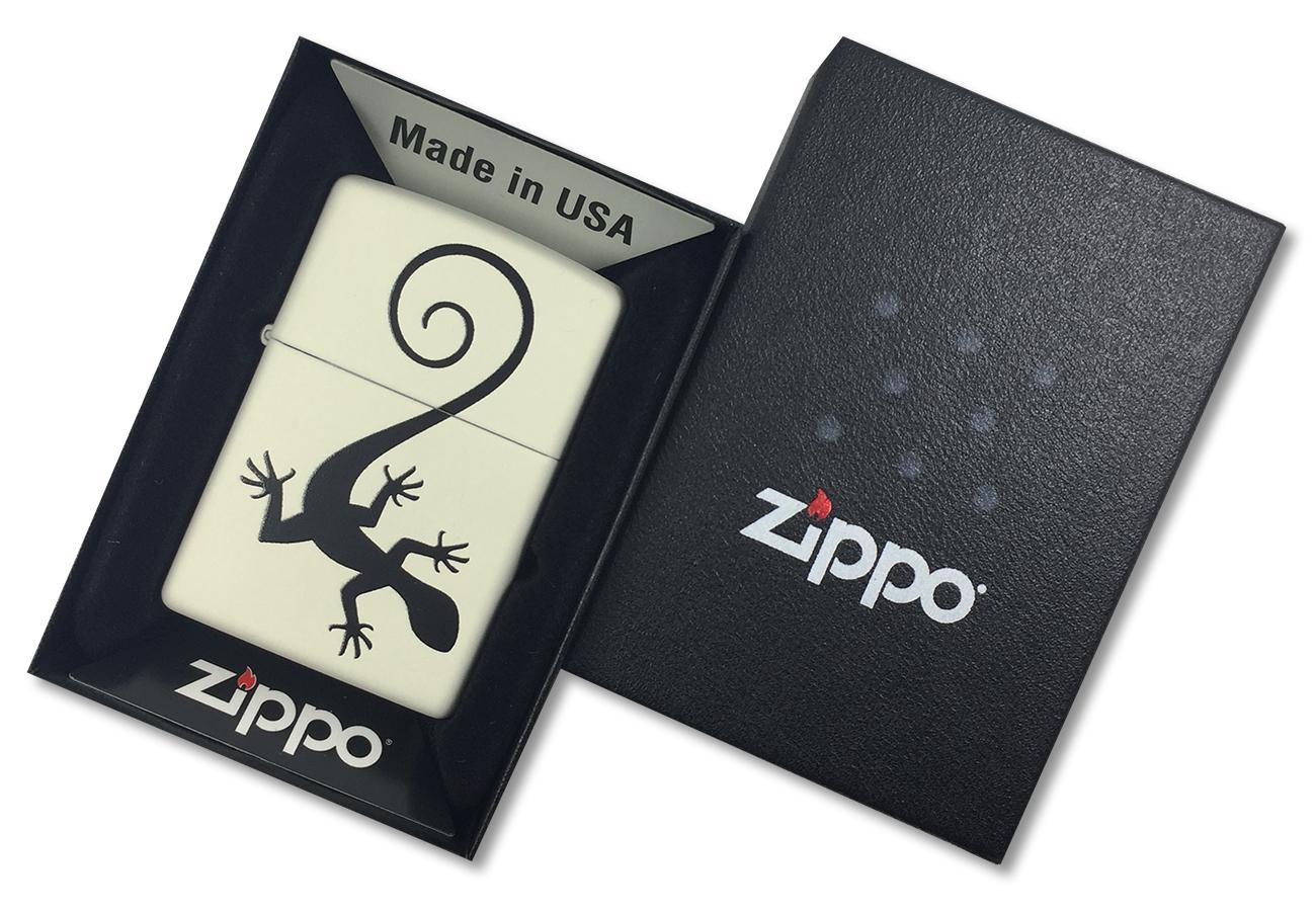 29190 Зажигалка Zippo Lizard, Cream Matte - в подарочной упаковке
