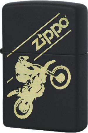 29528 Зажигалка Zippo Motocross, Black Matte