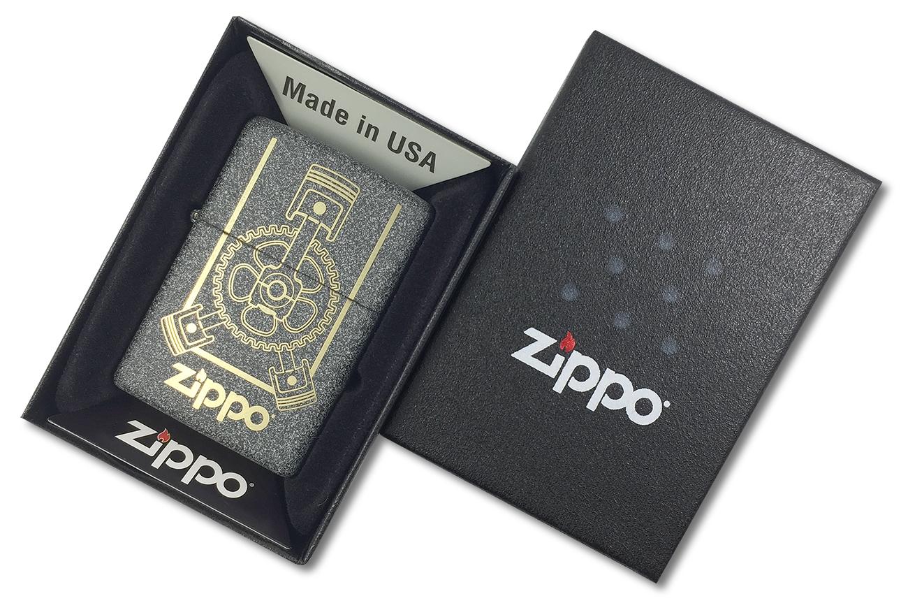 29529 Зажигалка Zippo Engine, Iron Stone - в подарочной коробке